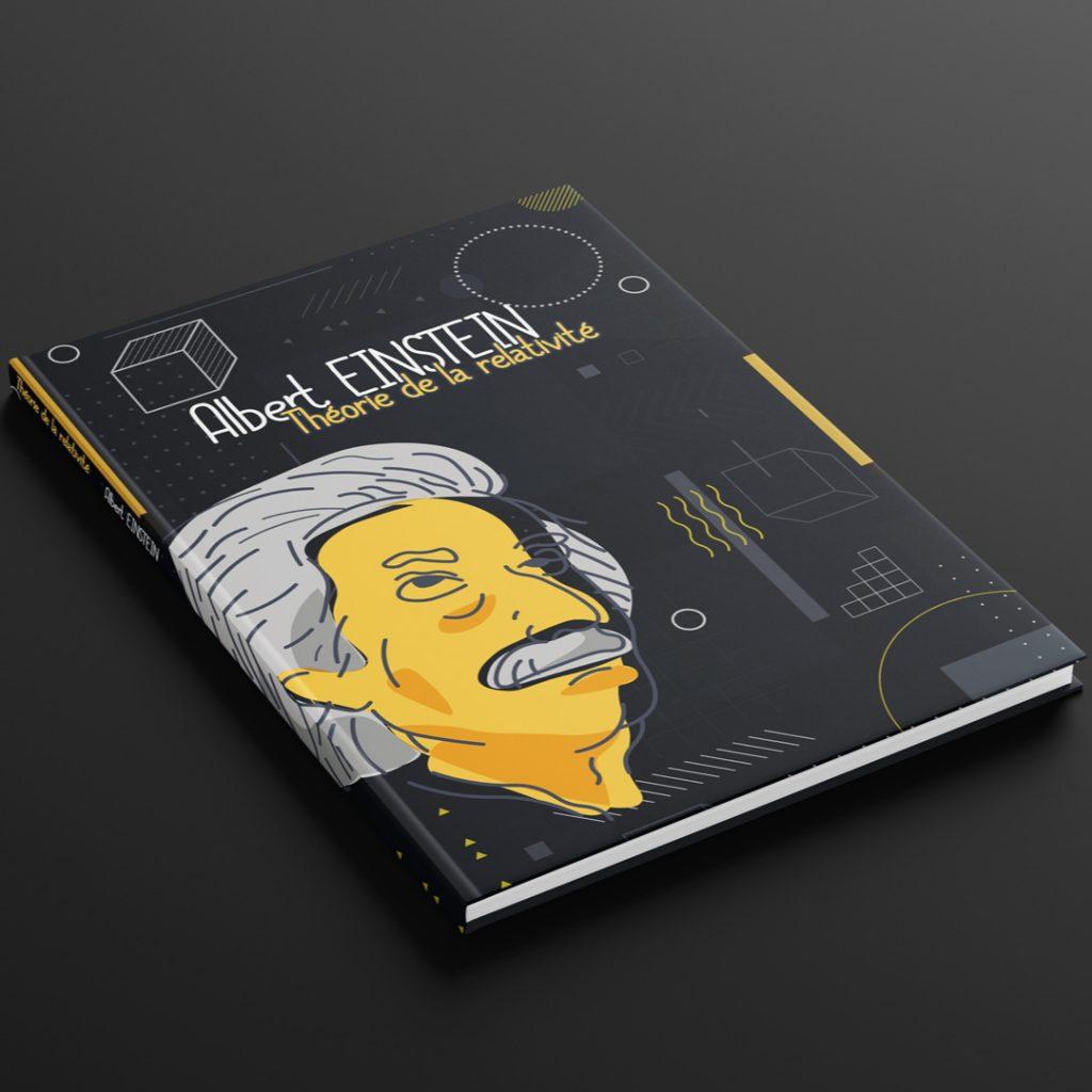 Exemple de mise en page de couverture de livre de vulgarisation scientifique pour jeune public
