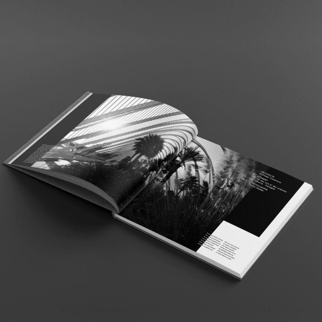 Exemple de mise en page d'une autre double page d'un livre photo